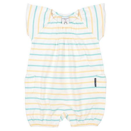 Baby Girl Striped Romper Green
