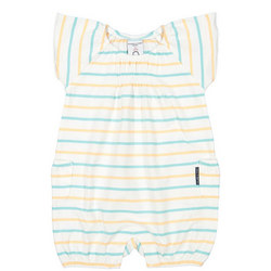 Baby Girl Striped Romper Green