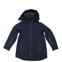 Girls Long Shell Coat Blue