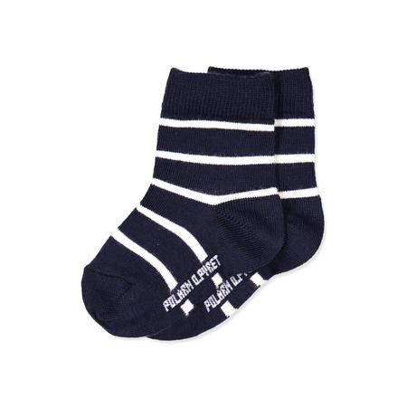 Baby Striped Wool Socks Blue