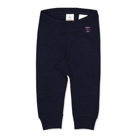 Baby Merino Wool Long Johns Blue