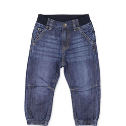 Babies Cuffed Jeans Blue