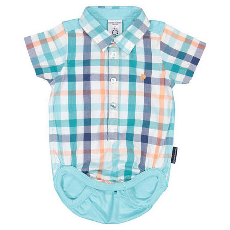 Baby Boys Shirt Bodysuit Combo Green