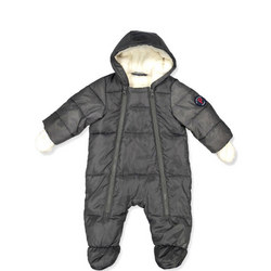 Baby Quilted Pramsuit Grey