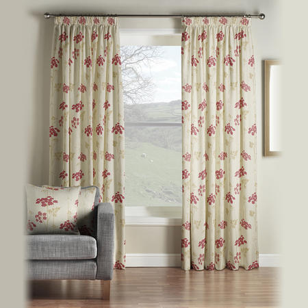 Salisbury Curtains Red