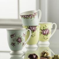 Archive Rose 4 Mugs Set