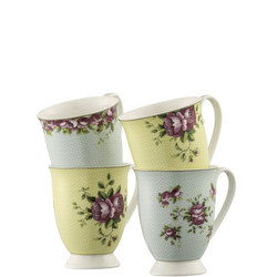 Archive Rose 4 Mugs Set