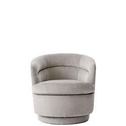 Liv Swivel Chair Light Taupe Distressed Velvet