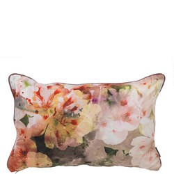 Flower Cushion Red