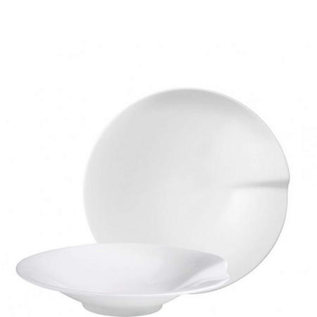 Pasta Passion Pasta Plates Medium Two-Piece Set White