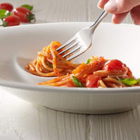 Pasta Passion Spaghetti Plates Two-Piece Set White