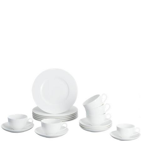 Royal 18-Piece Plates Set White