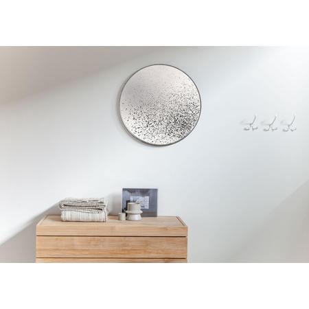 Clear Round Mirror, Light Aged 20600