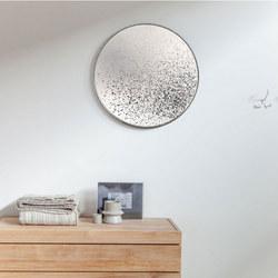 Clear Round Mirror, Light Aged 20600