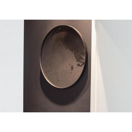 Bronze Round Mirror, Heavy Aged 20603