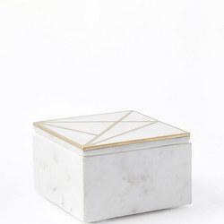 Brass Inlay Marble Box