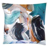 TENCEL Artist's Palette Euro Pillowcase Blue Teal
