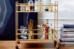 Terrace Bar Cart Antique Brass