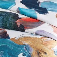 TENCEL Artist's Palette Duvet Cover Super King Blue Teal