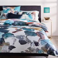 TENCEL Artist's Palette Standard Pillowcase Blue Teal