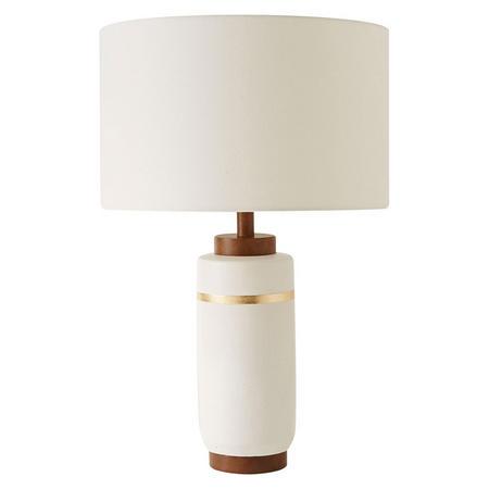 Roar & Rabbit Crackle Glaze Ceramic Table Lamp Large White Ceramic White