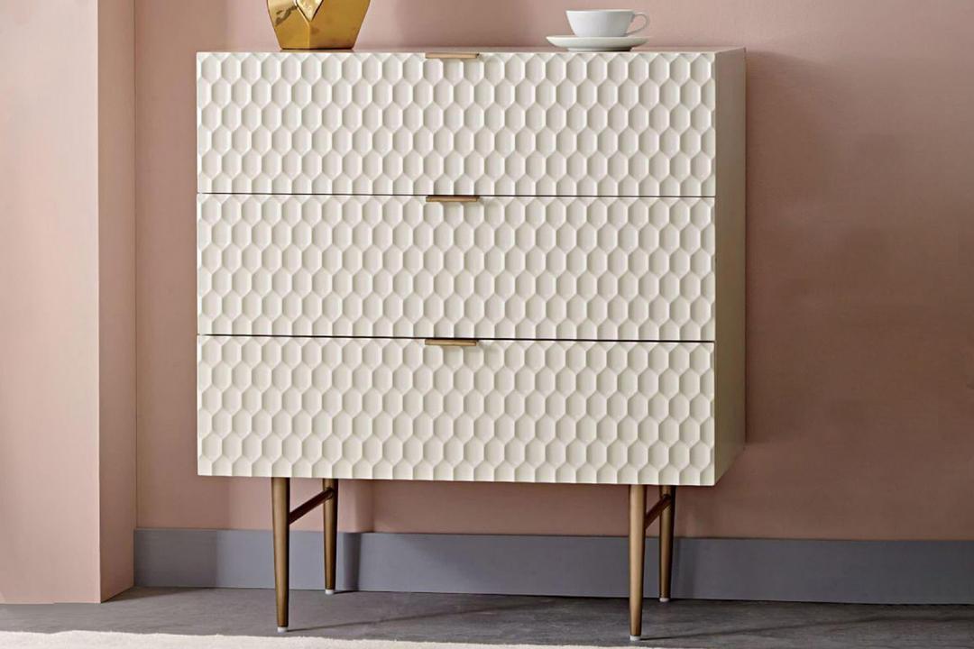 Audrey 3-Drawer Dresser Parchment