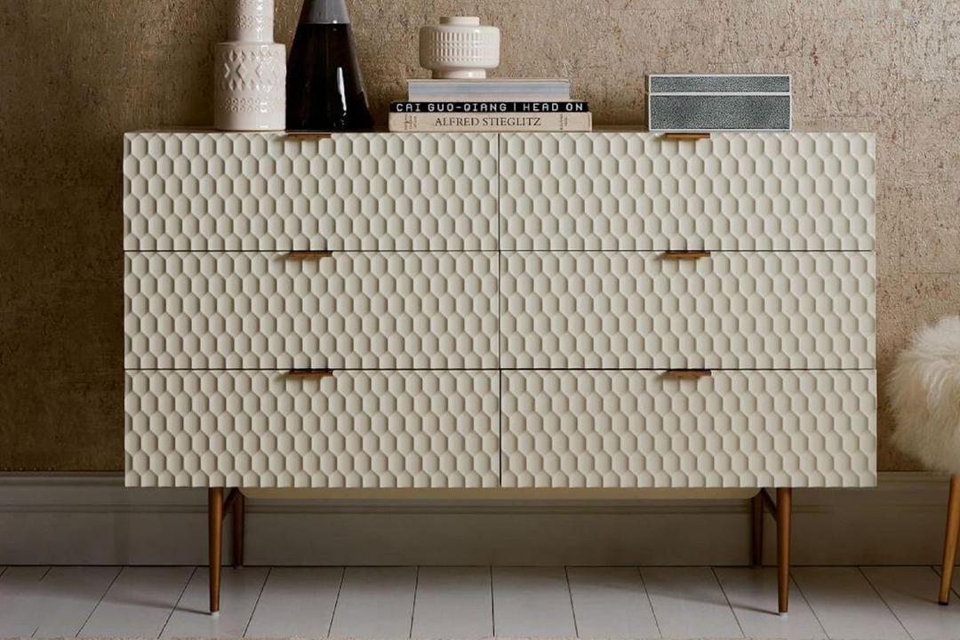 Audrey 6-Drawer Dresser Parchment
