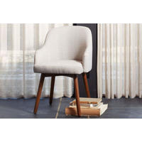 Saddle Dining Chair Crosshatch Steel/Ivory