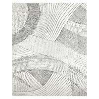Ribbon Waves Wool Rug Ivory 152 x 244 cm White