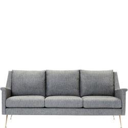 Carlo Mid-Century Sofa Twill Granite