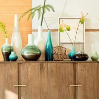 Reactive Glaze Vase Bud Turquoise Blue
