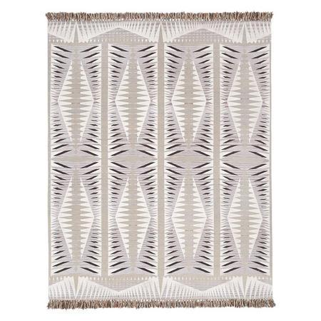 Diamond Point Rug Frost Grey 152 x 244 cm