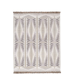 Diamond Point Rug Frost Grey 152 x 244 cm