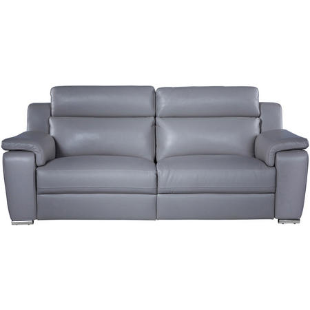 Victoire Three-Seater Recliner Sofa Grey