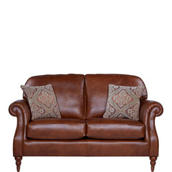 Westbury Large Two-Seater Leather Sofa Brown