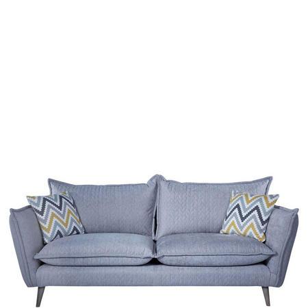 San Remo Four-Seater Sofa Silver