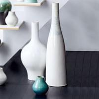 Reactive Glaze Vase Extra Tall White White