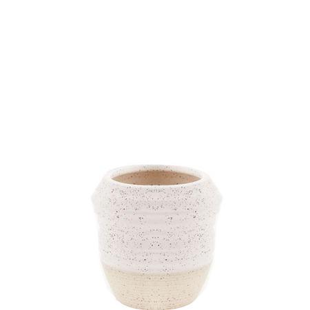 Textured Organic Vase Extra Small White