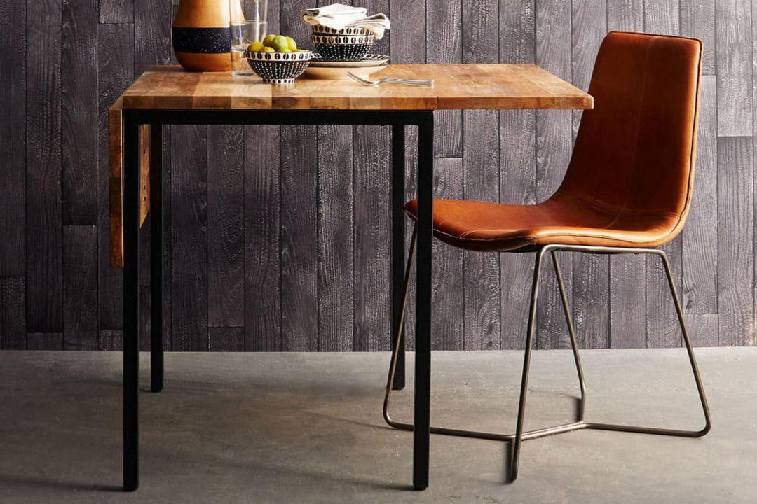 Slope Leather Dining Chair Aegean Blue