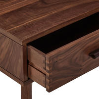 Design Project by John Lewis No.049 One Drawer Beside Table Walnut Brown