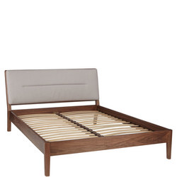 Design Project by John Lewis No.049 Bed Frame Walnut/Grey Brown