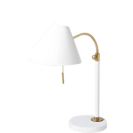 Mid Century Task Lamp White