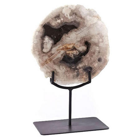 Petrified Wood Object on Stand Small