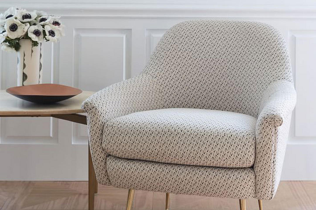 Phoebe Chair Morse Dot Ivory White
