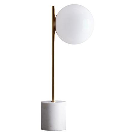 f4cf6ca1321acb Sphere & Stem Table Lamp Brass/Milk Glass 1-Light