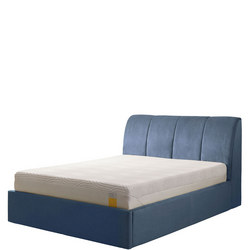 Harrington Ottoman Bedstead Twill Blue/Grey
