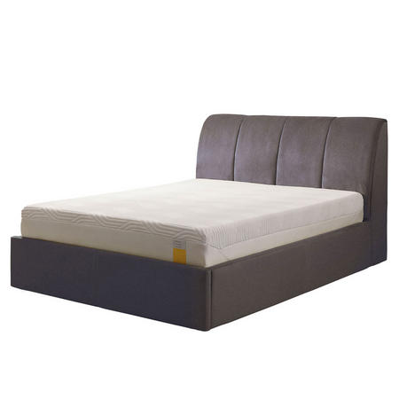 Harrington Ottoman Bedstead Twill Light Grey