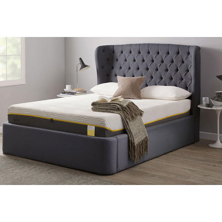 Holcot Ottoman and Headboard Ash Grey