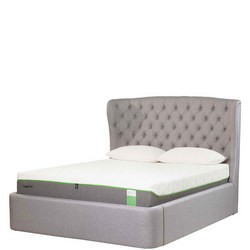 Holcot Ottoman and Headboard Platinum Grey