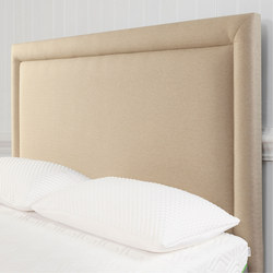 Moulton Border Headboard Tweed Malt Beige